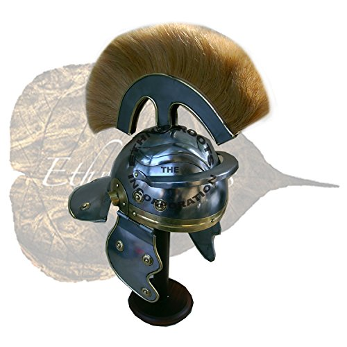 Roman Centurion Helm (Dick Natur Plume) Reenactment/Larp/Rollenspiele + Gratis Helm Ständer (Centurion Helm Roman)