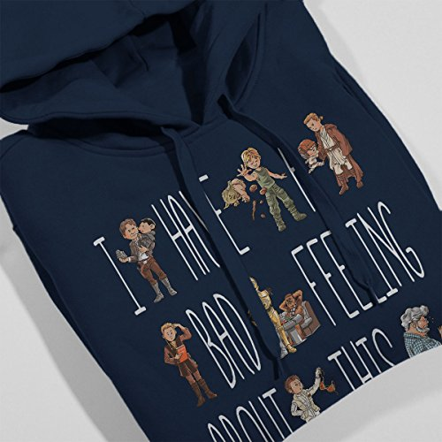 I Have A Bad Feeling About This Star Wars Women's Hooded Sweatshirt Navy Blue