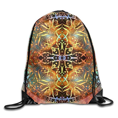 Sporttaschen,Sacred Mandala Gym Eco-Friendly Luggage Drawstring Backpack Unisex Portable Sack Bags ()