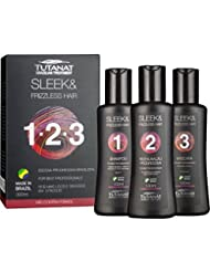 Tutanat keratin haarglättung kit – keratin ohne formaldehyde, Shampoo 100ML, keratin behandlung100ml, hair mask 100ML