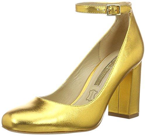 Buffalo London Damen ZS 6454-16 Metallic Pumps, Gold (Gold 87), 39 EU