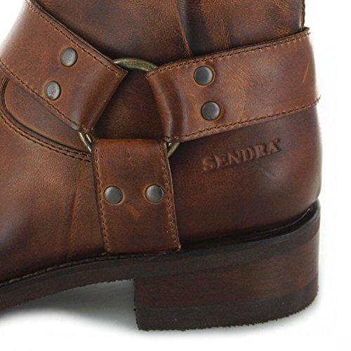 Sendra Boots 12851 Evolution Tang/Herren Bikerstiefelette Braun/Sendra Biker Boots Evo Tang