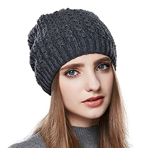 URSFUR Unisex Multicolor Warm Knit Thick Beanie Cap