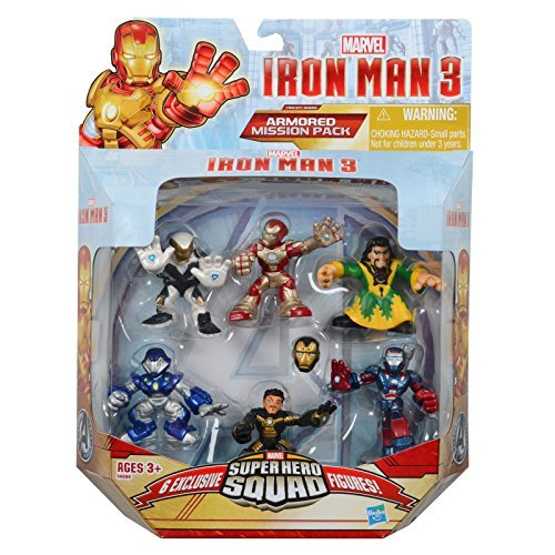 on Man 3 Exclusive Figure Set, (Iron Man Mark 42, Ghost Armor, Deep Depth, Rapid Deploy, Iron Patriot & Mandarin), 6-pack by SportsMarket ()