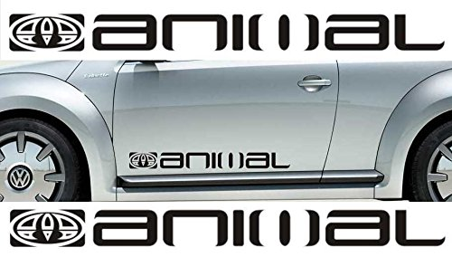 2x-Large-Animal-surf-logo-vinyl-car-van-graphic-Aufkleber-Aufklebers-in`+ Bonus Testaufkleber