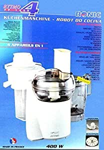 original ronic rytmo erweiterter lieferumfang k chenmaschine 400 watt mit. Black Bedroom Furniture Sets. Home Design Ideas