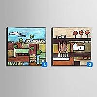 ZSH Paesaggio rurale, dipinti a mano olio su tela, cornice
