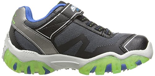 Skechers Boys S Lights Street Lightz 2 Light Up Sporty Casual Trainers Blue / Black / Lime