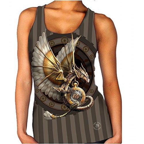 STEAMPUNK DRAGON Weste für Frauen Official Anne Stokes Merchandise (T-shirt Drache-kunst-dunklen)
