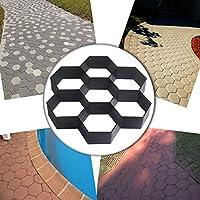 Com4sport Molde reutilizable con forma hexagonal, ideal para darle forma a los caminos de hormigón