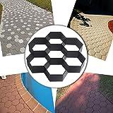Form für das Verlegen von Pflastersteinen von Com4Sport, für das Selberbauen Ihrer Terrasse oder Wege, Maße der Form 29x 29cm, Sechsecke