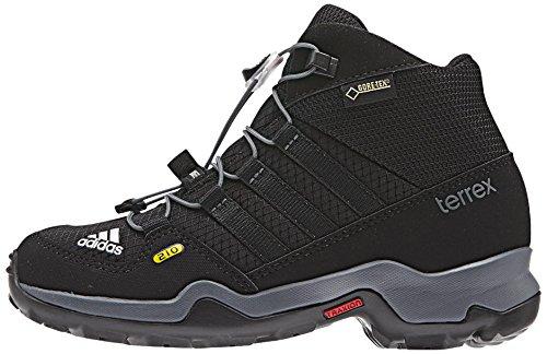 adidas Terrex Mid Gtx K, Chaussures Garçon Noir (Negbas / Negbas / Grivis)