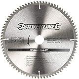 Silverline 244964 Lame TCT pour placages 80 dents 250 x 30 bagues de 25/20/16 mm