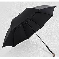 ssby manuale ombrello Teschio lungo ombrello ombrello piccole età, personalità e creative ombrello uomo e donna di duplice uso, portatile e resistente, nero