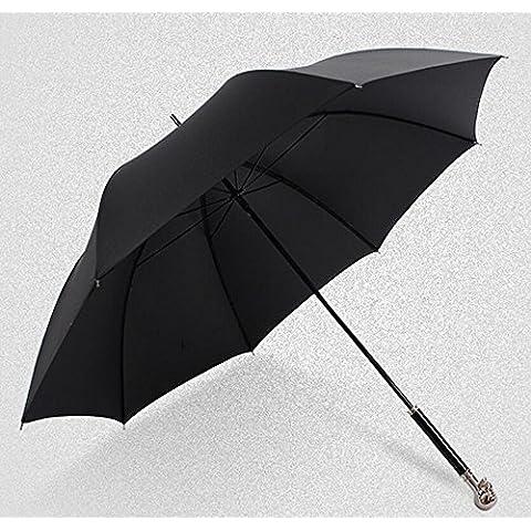 KHSKX Paraguas manual cráneo largo paraguas sombrilla pequeña edad, personalidad y creative paraguas hombre y mujer de doble uso, robusto y portátil ,