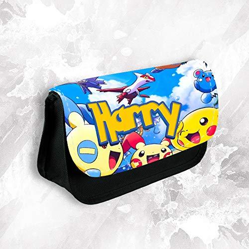 Estuche-personalizado-con-cualquier-nombre-de-Pokemon-para-maquillaje-escuela-nios-papelera