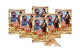 Pazifischer Kabeljau Jerky getrocknet und gesalzen Low Carb Fitness Food Eiweiß Snack Jerky Trockenfleisch Snack Protein Snacks Omega - 3 Meeresfrüchte 6 Stück je 36 g (Natur)