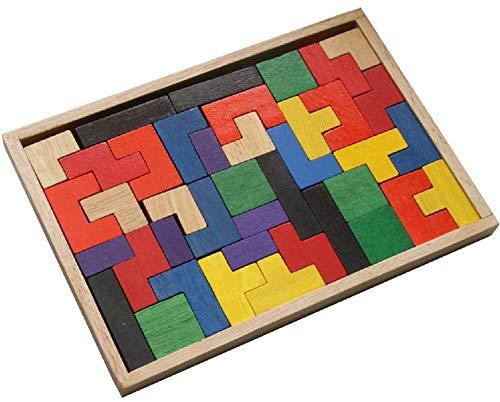Lege-puzzle aus Holz, 24,5 cm x 17cm, Geschicklichkeitsspiel für Kinder und Erwachsene, Geduldsspiel