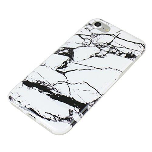 iPhoen 8 / 7 Back Case, iPhone 7 Hülle Marmor, iPhone 8 Handyhülle Marmor, iPhone 7 Kratzfeste Hülle, Moon mood® Soft Hülle für Apple iPhone 7 / 8 4.7 Zoll Ultra Thin Dünn TPU scheuern Weich Fall Schu Marmor 1