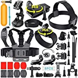 Adofys 42 in 1 Action Camera Accessories Kit Compatible for GoPro, Sony Action Cam, Nikon, Garmin, Ricoh Action Cam…