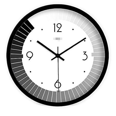 Sucastle Creative wall clock, art wall clock, fashion wall clock, simple wall clock, round wall clock, living room clock, mute wall clock, clock 12