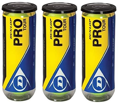 Dunlop Pro Tour Pelota de Tenis Pack 9 Pelotas 3x3
