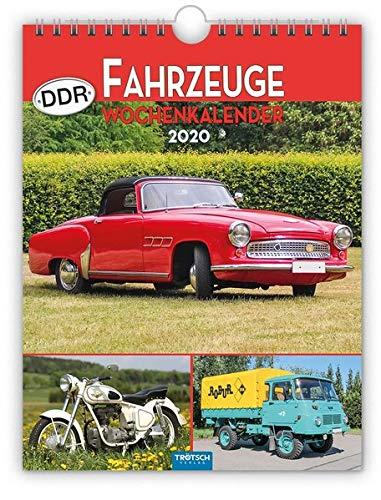 """Wochenkalender \"""" DDR-Fahrzeuge\"""" 2020: 19 x 25 cm, mit Bildern von Ralf-Christian Kunkel"""