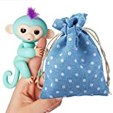 2017 Dolls Portable Challen Kids Play Storage Bag Toys Rug Box For Finger Monkey Little Baby Monkey (Blue)