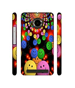 Casotec Cheerful Smiley Design 3D Printed Hard Back Case Cover for Yu Yunique