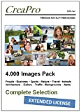 DVD-SetPAQUETE DE IMAGENES (4 DVDs) de CreaPro con sobre de 4.000imágeneslibres de derechosdealta resoluciónpara todos los usos promocionales y Licencia extendida para Productos de Reventa