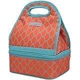 MIER de dos compartimentos bolsos del almuerzo del refrigerador de almuerzo reutilizable Bolsas para mujeres y niños - naranja