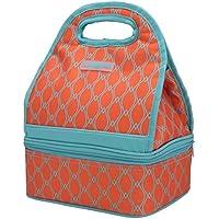 MIER double compartiment sacs ¨¤ lunch Cooler Lunch r¨¦utilisable fourre-tout pour les femmes et les enfants, orange