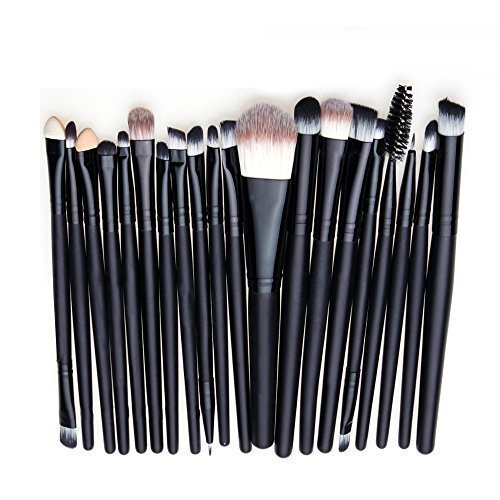 Contever® 20 Stück Holz Make up Pinselset Makeup Bürsten Foundation Lidschatten Eyeliner Lippen Pinsel Kosmetik Brushes