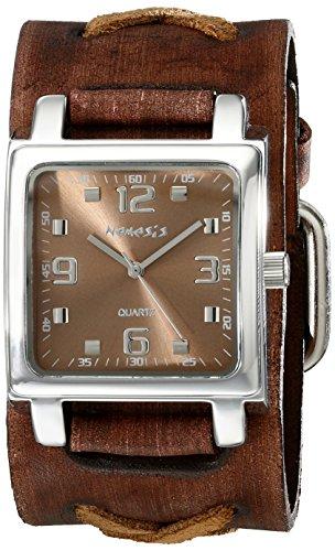 Nemesis Unisex 516BFXBB Lite SQ Series Analog Display Japanese Quartz Brown Watch