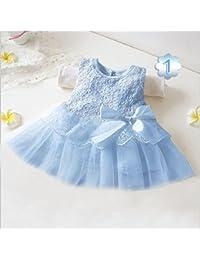 Robe dentelle et tulle, modèle bleu ciel 6 Mois,3 mois,9/12 mois,12/18 mois