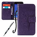 JAWSEU Leather Case for Samsung Galaxy J1(2016) Butterfly,