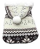 Samgu Cappotto Caldo Animale Domestico Cane Felpa con Cappuccio Natale Inverno Maglione Costume Cane Color Marrone Size X-Large