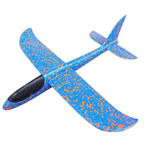 Baby Spielzeug FORH Kinder Flugzeug Spielzeug Outdoor Wurf Segelflugzeug Glider Interessant LED Schaum Werfen Flugzeuge Nachtflugzeug Hand starten Flugzeugmodell Outdoor Sport Spielzeug (B)