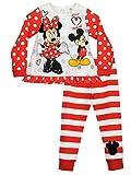 Disney Mädchen Minnie Mouse und Mickey Mouse Schlafanzug 98