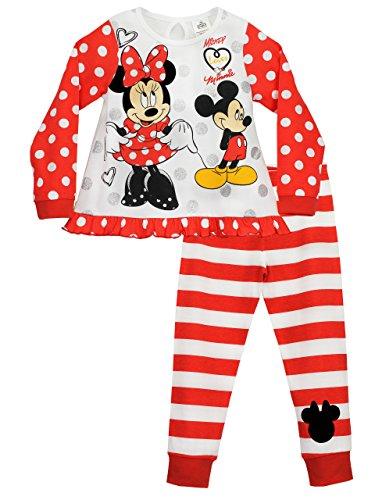 Disney minnie mouse - pigiama a maniche lunghe per ragazze - 3 - 4 anni