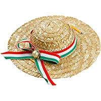 TOOGOO Mini Sombrero de Perros Mascota Sombrero para el Sol Sombreros de  Paja de Fiesta de e6d25b50453