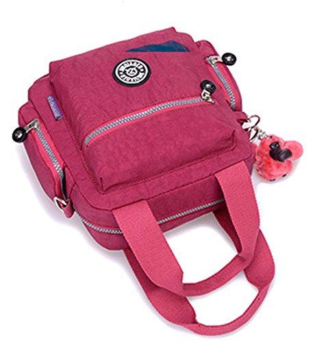 Keshi Nylon Cool Damen Handtaschen, Hobo-Bags, Schultertaschen, Beutel, Beuteltaschen, Trend-Bags, Velours, Veloursleder, Wildleder, Tasche Mehrfarbig 3