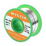 Wyctin 303 sans plomb Colophane Core Bobine de fil à souder pour souder électrique et DIY 0,1 cm (0.6 mm) 0.11bs