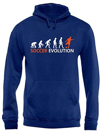 Angry Shirts Soccer Evolution - Fußball Evolution - Football Evolution - Herren Hoodie