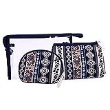Juego de bolsas de maquillaje, HOYOFO 3pcs claro Cosmetic Bag Set neceser de viaje para mujer