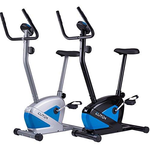 Heimtrainer RX100 Fitnessbike Trimmrad Ergometer Pulsmessung Hometrainer belastbar bis 120 kg Silber