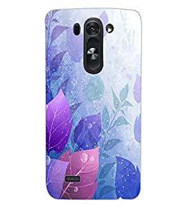 ColourCraft Beautiful Leafs Design Back Case Cover for LG G3 S