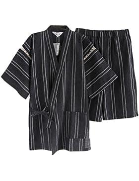 Traje de pijama Kimono de estilo japonés para hombres [D]