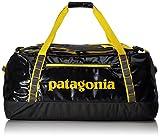 Patagonia Erwachsene Black Duffel 90L Rucksack, Forge Grey w/Chromatic Yellow, 55 x 32 x 22 cm