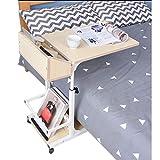 Klapptisch Weiß Ahornholz Nachttisch Faule Menschen Aufzug Bewegliche Seite Mehrere Home Sofa Einfache Lernen Pflege 50 cm * 40 cm * 55 cm Rollsnownow